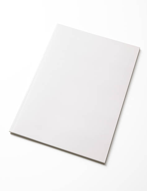 isolated shot of closed blank magazine on white background - blank stock photos and pictures