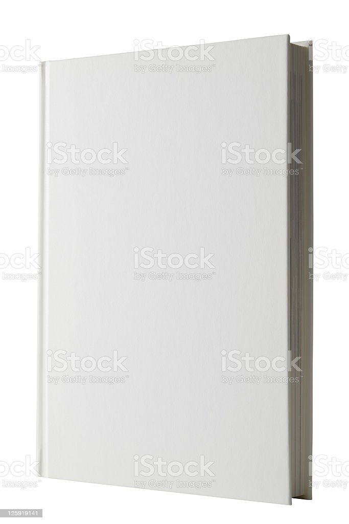 Isolated shot of closed white blank book on white background royalty-free stock photo