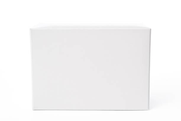 Isolé photo de fermé blanc vide boîte sur fond blanc - Photo