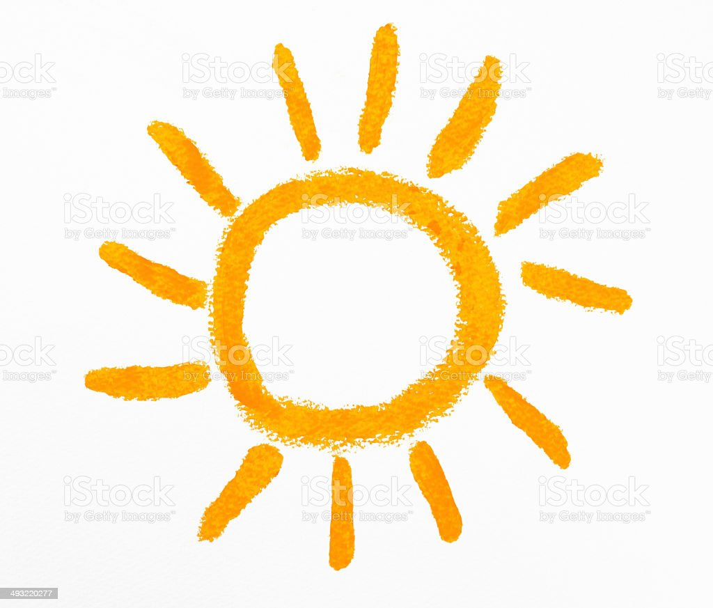 Uncategorized Drawing The Sun isolated shot of crayon drawing the sun on white background stock royalty free photo