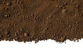 istock Isolated shot of humus soil border on white background 478219693