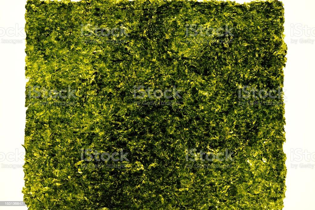 Isolated shot of laver(Nori) on white background royalty-free stock photo