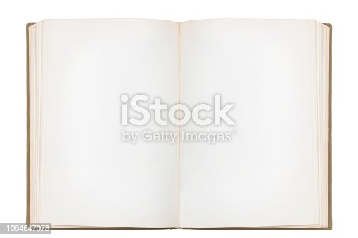 Blank Open Book with space on text