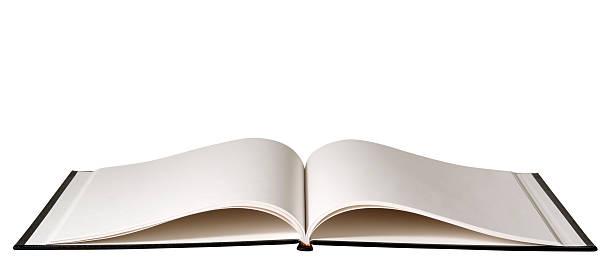Fotografia de livro em branco isolado no fundo branco - foto de acervo