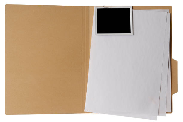 isolated shot of opened file folder on white background - file stock pictures, royalty-free photos & images