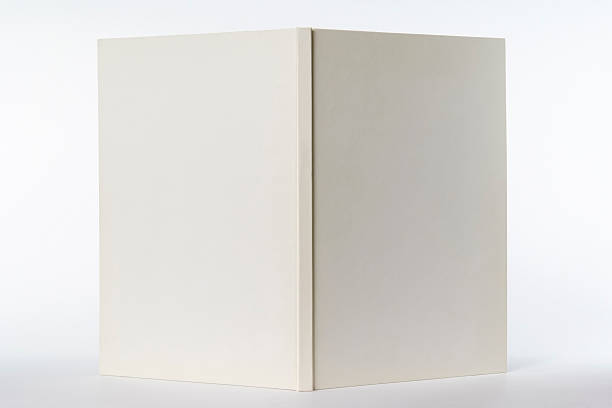 isolated shot of opened white blank book on white background - book open 個照片及圖片檔
