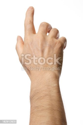 182925103 istock photo Isolated shot of press the button against white background 182912820