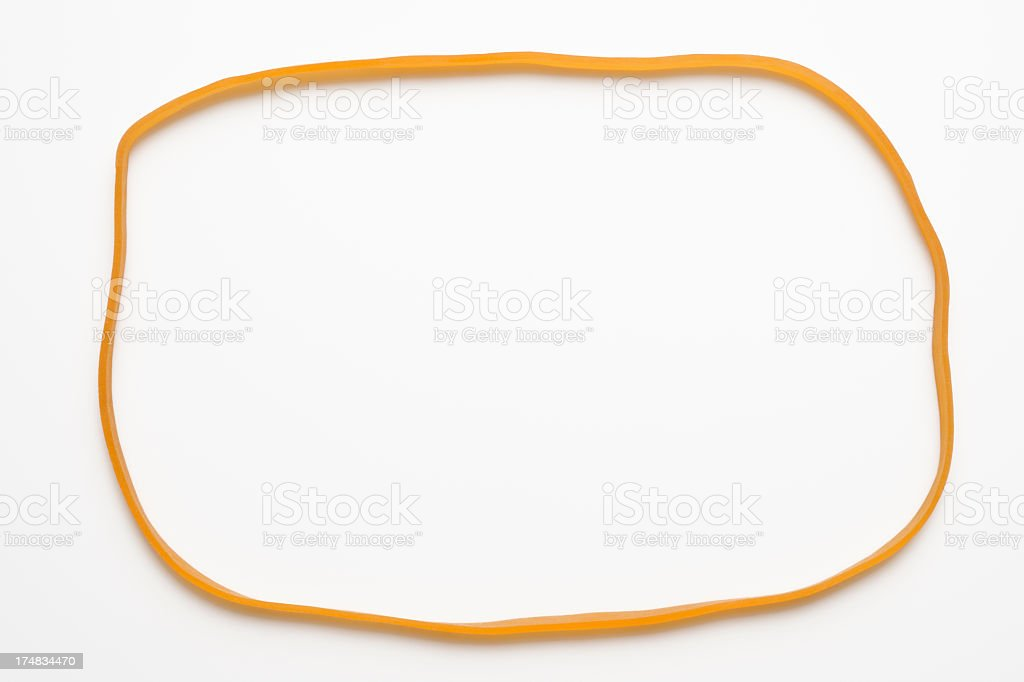 Isolated shot of rubber band frame on white background royalty-free stock photo