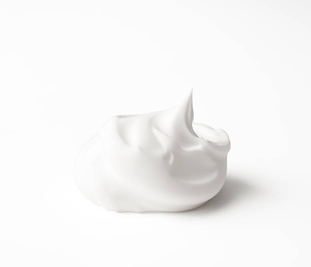 isolated shot of shaving cream on white background - shaving cream stock pictures, royalty-free photos & images