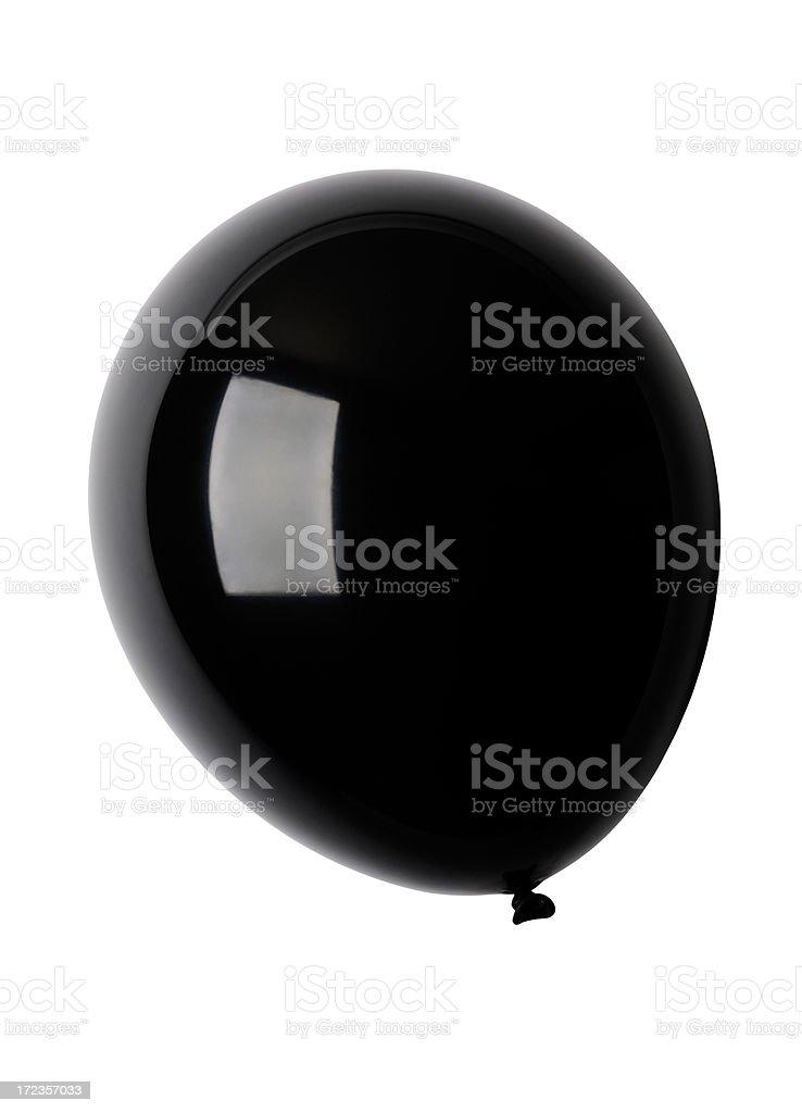 Isolated shot of shiny black balloon against white background royalty-free stock photo