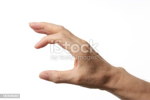182925103 istock photo Isolated shot of small hand sign on white background 182906062