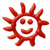 istock Isolated shot of Smiley Face written in ketchup on white background 1321228509