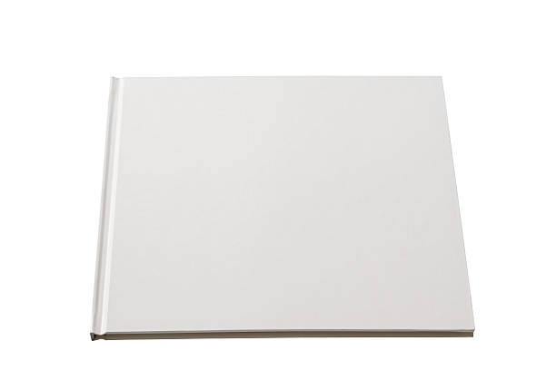 Isolated shot of square blank book on white background stock photo