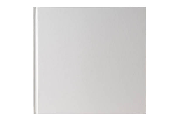 Isolated shot of square white blank book on white background Square white blank book isolated on white background with clipping path. hardcover book stock pictures, royalty-free photos & images