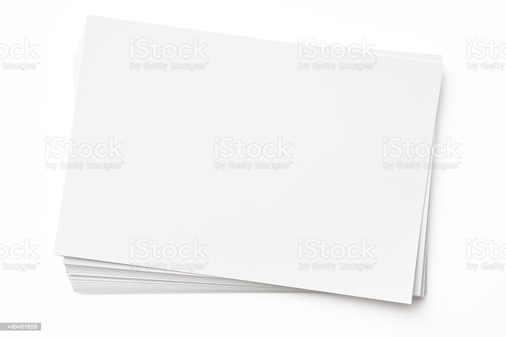 Isolated Shot Of Stacked Blank Paper On White Background Stock Photo  Blank Paper Background