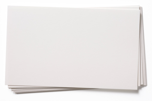 Stacked blank white cards isolated on white background with clipping path.