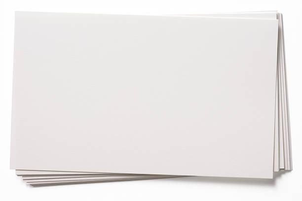 격리됨에 슛 of 적재형 맹검액 인명별 카드를 흰색 배경 스톡 사진