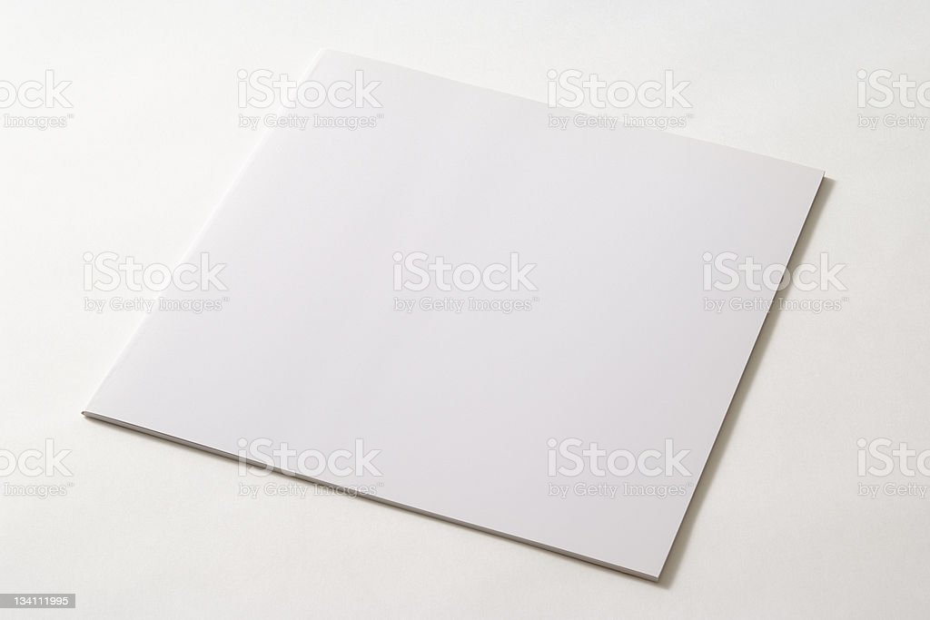 Isolated shot of thin square blank book on white background royalty-free stock photo