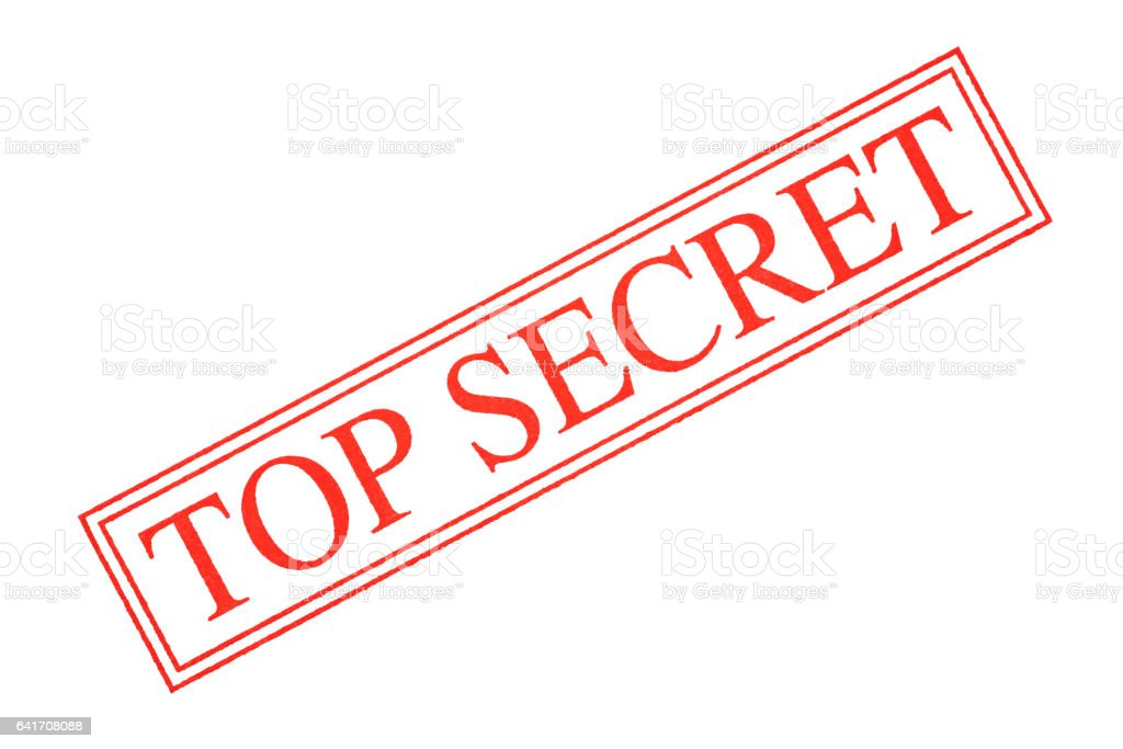 """Isolated shot of """"TOP SECRET"""" rubber stamp on white background stock photo"""