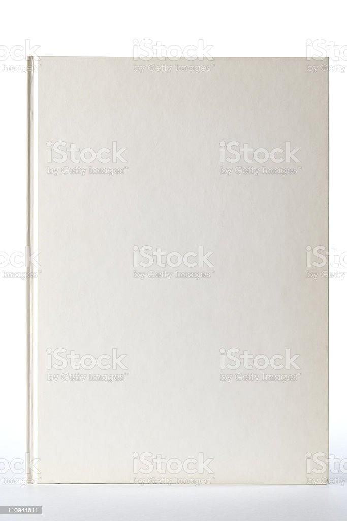 Isolated shot of white blank book on white background royalty-free stock photo