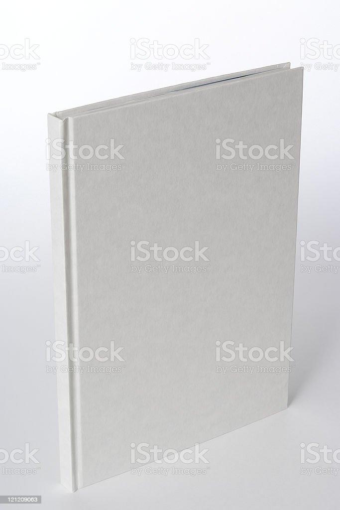Isolated shot of white blank book on white background stock photo