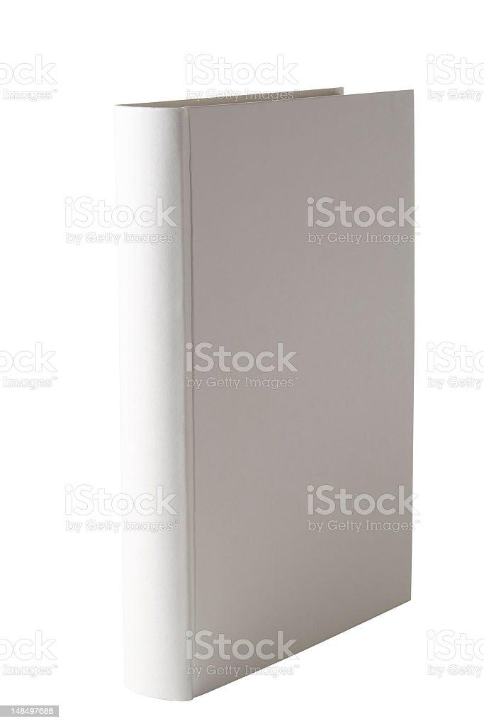 Isolierte Schuss von weiße leere Buch auf weißem Hintergrund – Foto