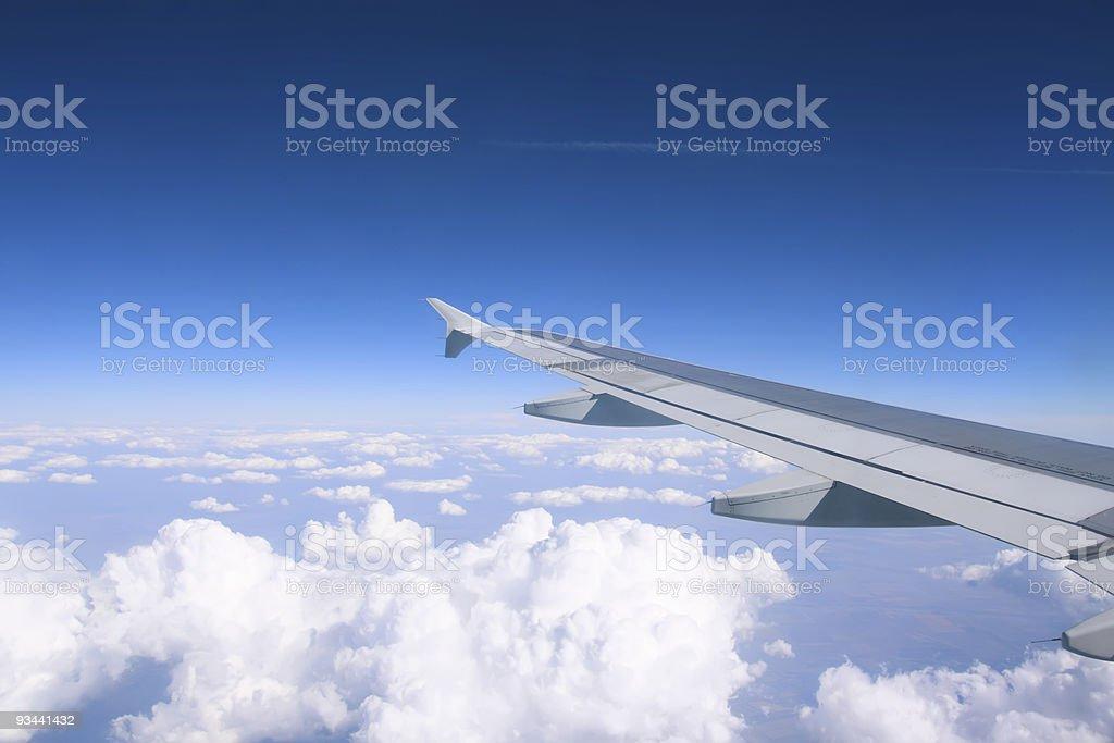Flugzeug Flügel aus Lizenzfreies stock-foto