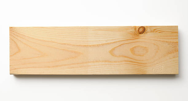 isolated shot of wood plank on white background - part of stock photos and pictures