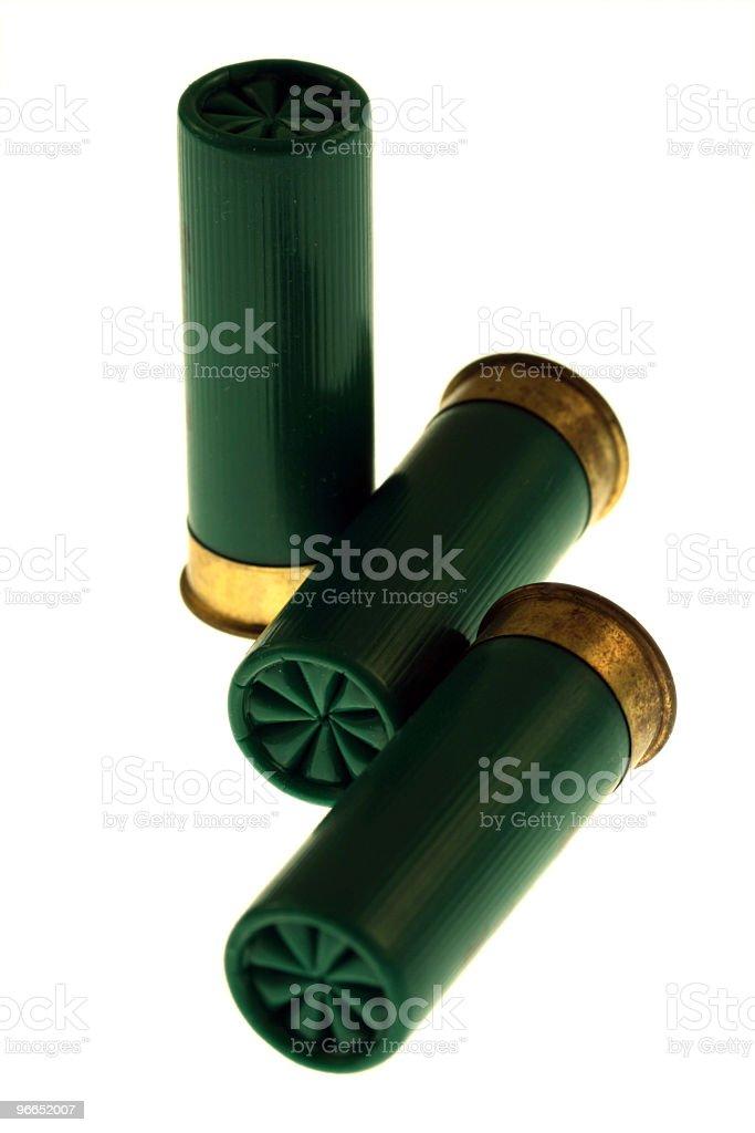 Isolated Shotgun Shells stock photo