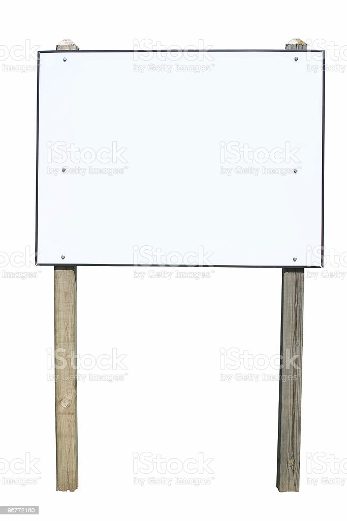 Isolated sign royalty-free stock photo