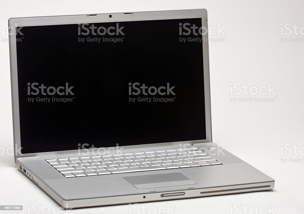 Isolated Silver Laptop royalty-free stock photo