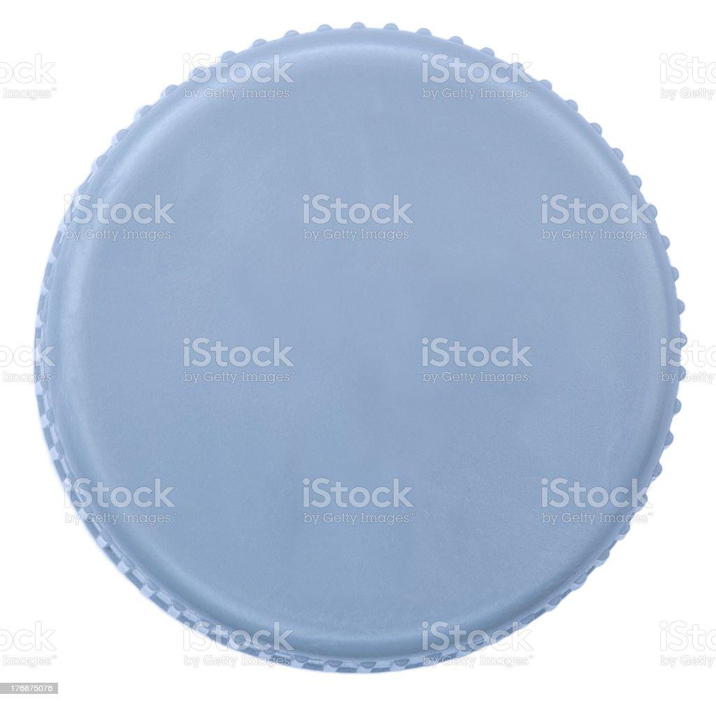 Isolated Silver Plastic Cap stock photo