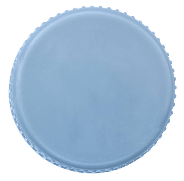 isolated silver plastic cap - plastic cap stock photos and pictures