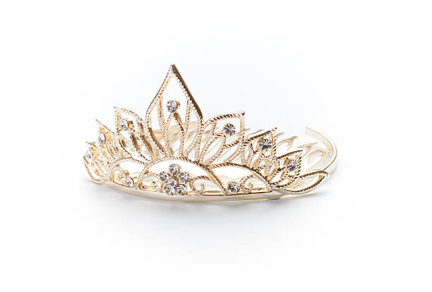 Isolated silver tiara, crown or diadem  diademe stock pictures, royalty-free photos & images