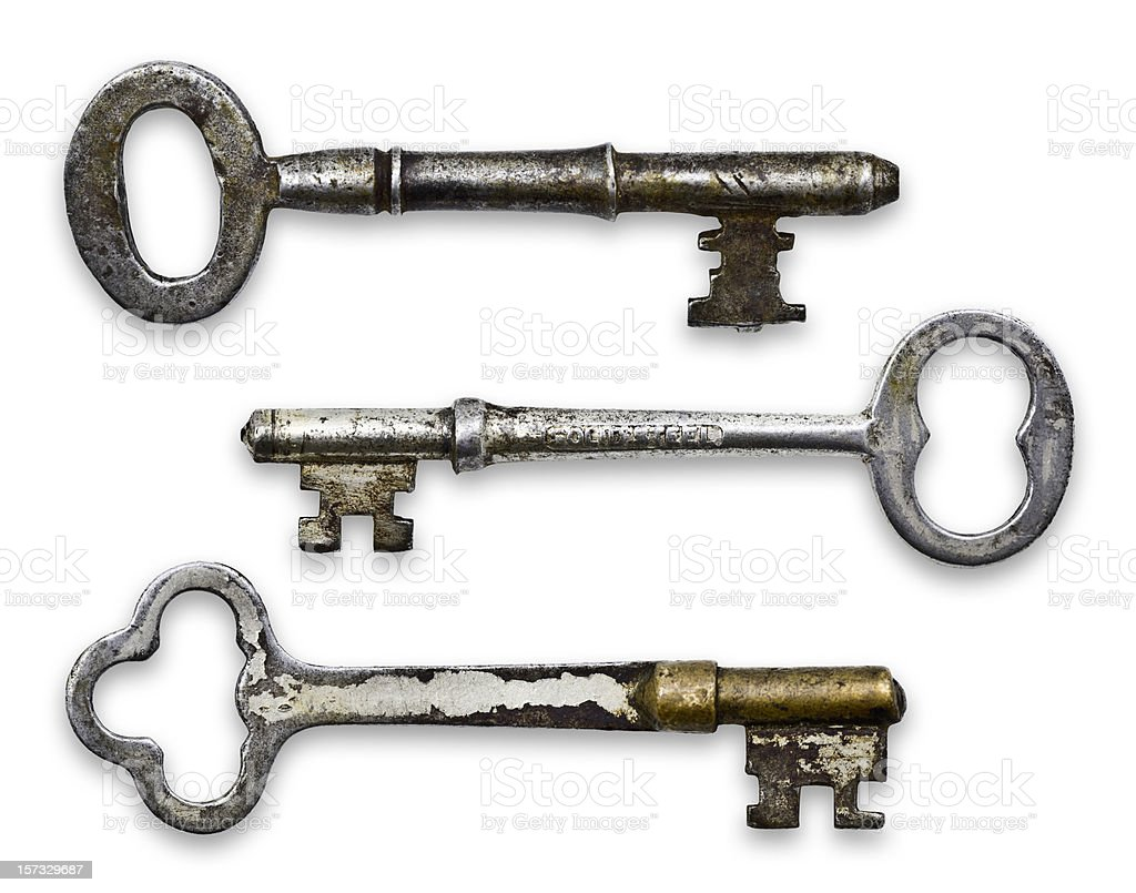 Isolated Skeleton Keys (Clipping Path; XXL) stock photo