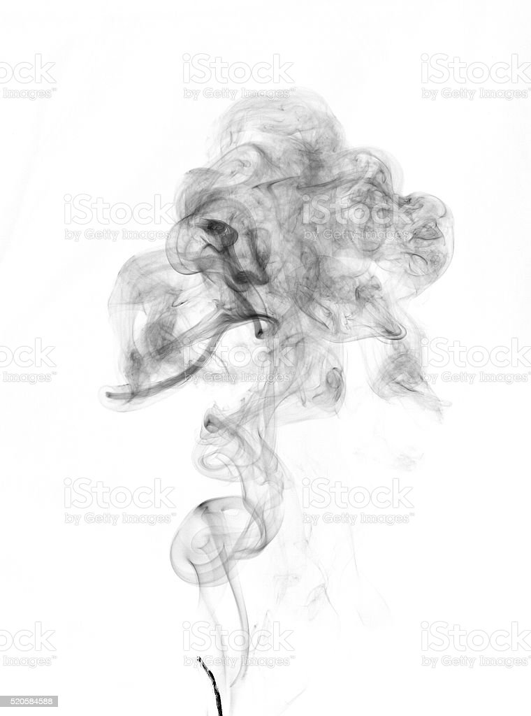 isolated smoke stock photo