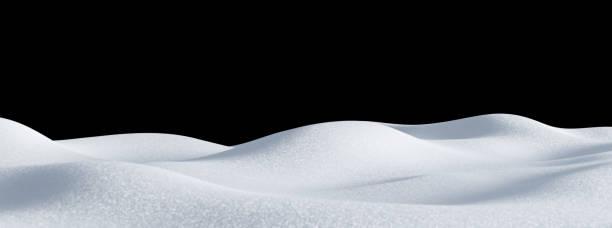 isolierte schneehügellandschaft. winter schneeverwehung hintergrund. - haufen stock-fotos und bilder