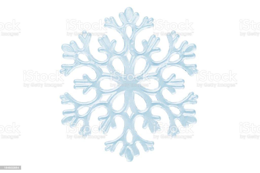 Isolated Snowflake On White stock photo