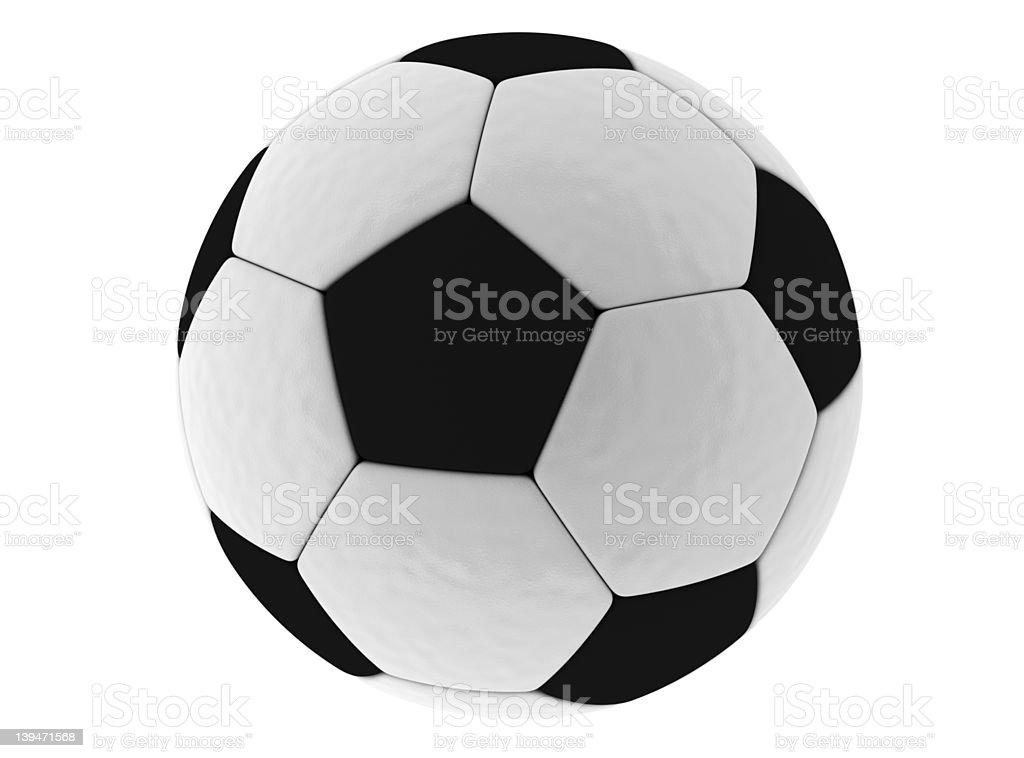 Isolated soccer ball [clipping path] royalty-free stock photo