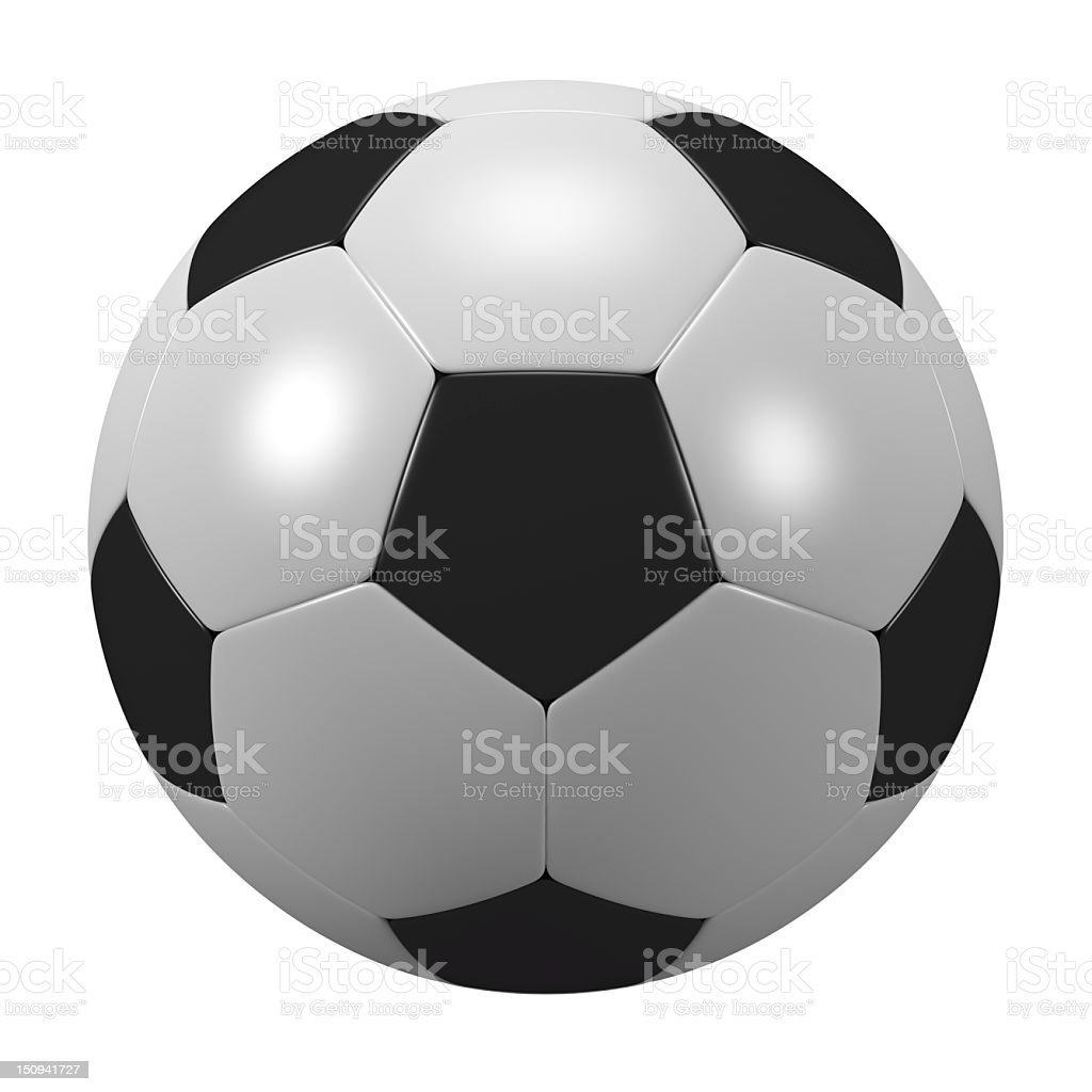 Isolated Soccer Ball royalty-free stock photo