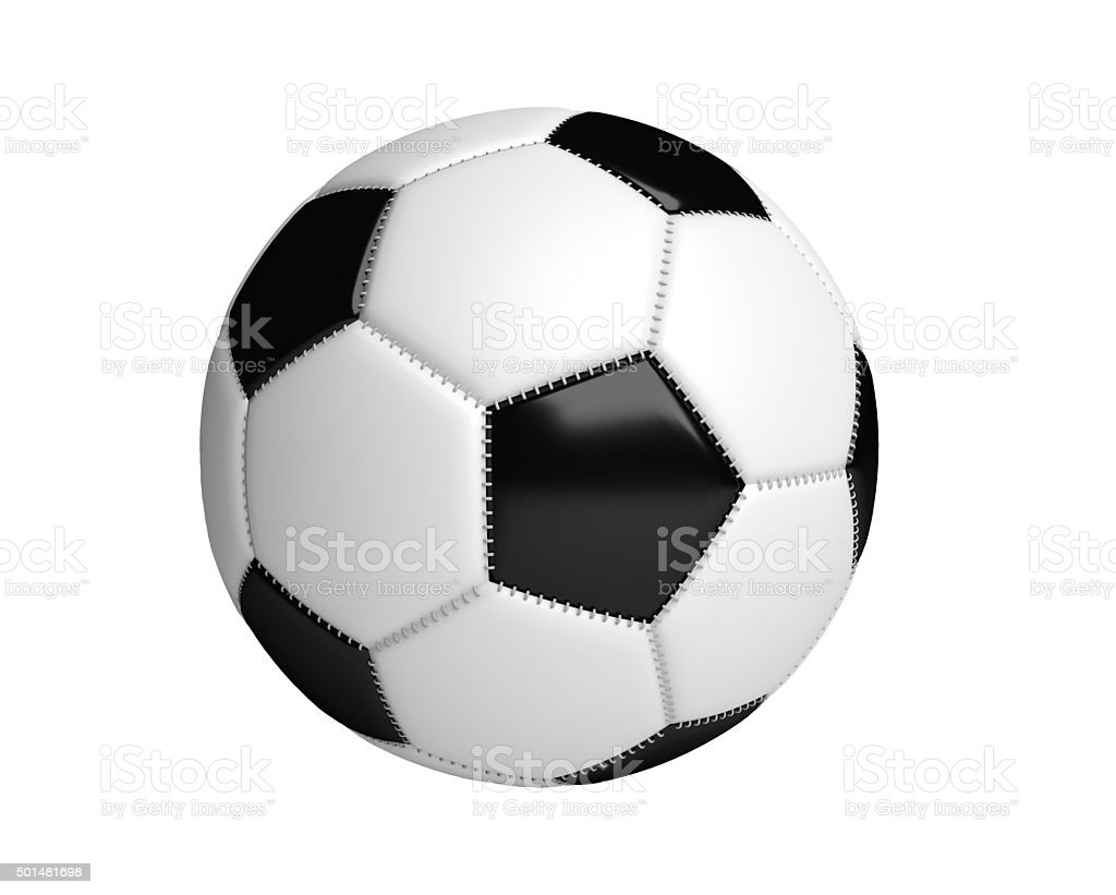 Pelotas de fútbol aislado con fondo blanco - foto de stock