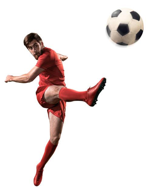 Isolierter Fußballspieler – Foto