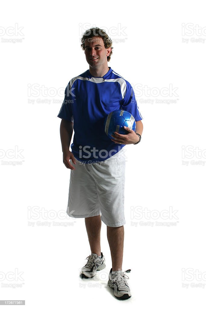 Isolated Soccer Player royalty-free stock photo