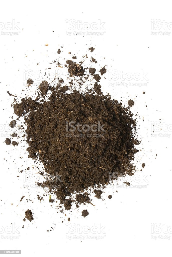 isolated soil stock photo