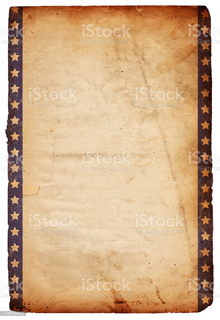 Isolated Star Grunge Paper XXXL royalty-free stock photo