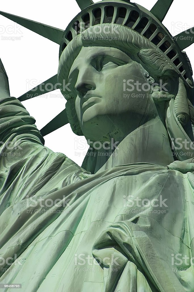 Isolated statue of liberty royalty-free stock photo