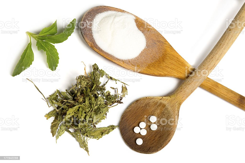 Isolated stevia stock photo