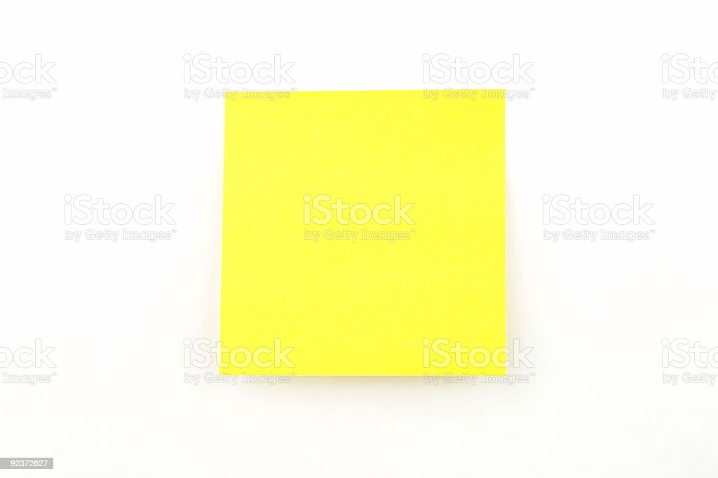 Isolated Sticky Note royalty-free stock photo