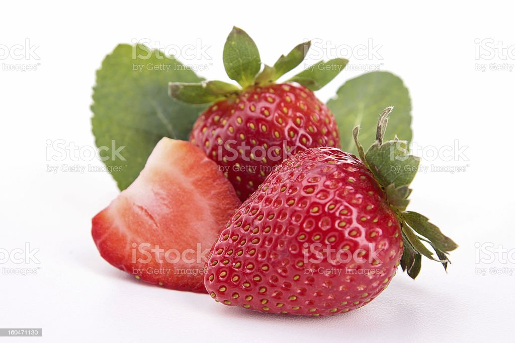 isolated strawberry royalty-free stock photo