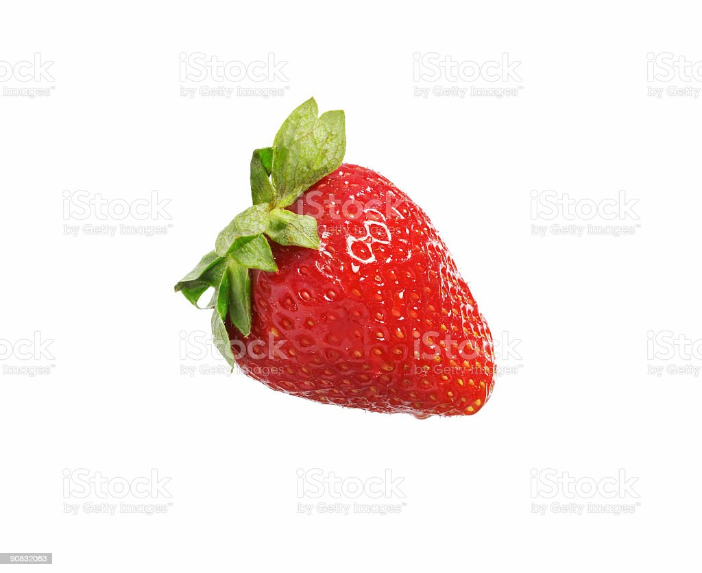isolated strawberry stock photo